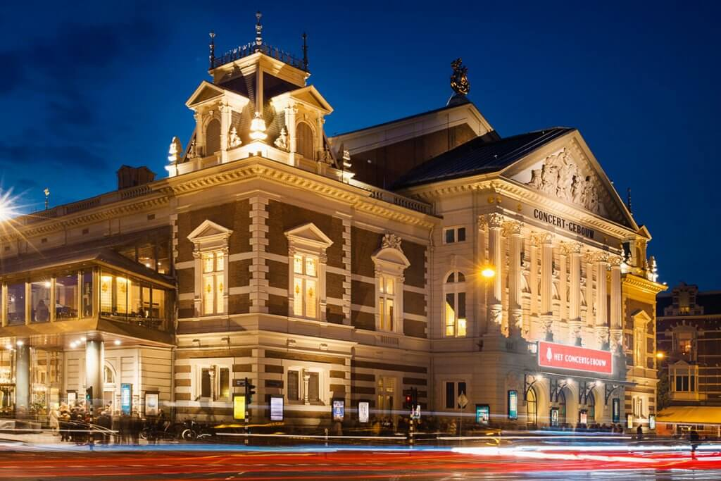 het concert gebouw Amsterdam
